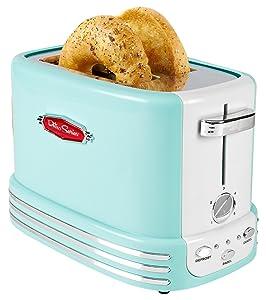 Nostalgia RTOS200AQ Bagel Toaster, 2-Slice Aqua