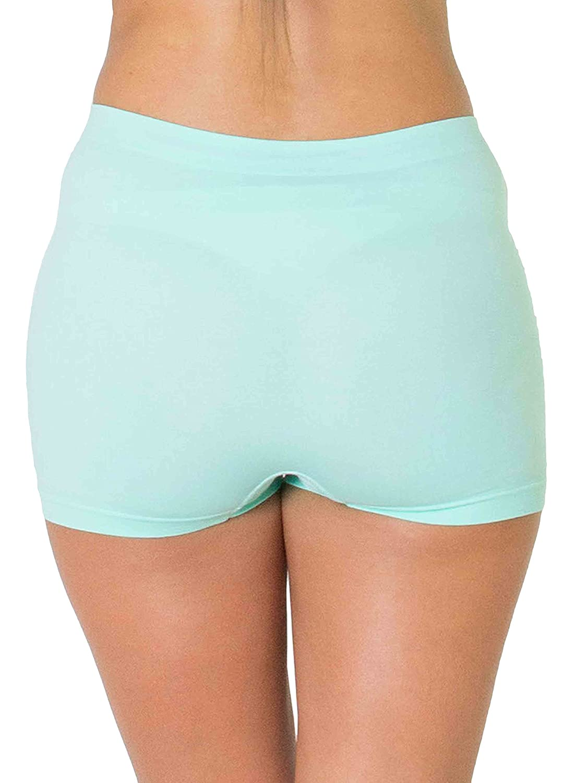 a3e8799381df LOVE MY Fashions Womens Underwear Plain High Waist Ladies Seamless Stretch  Boxer Shorts S M L XL XXL Plus Size