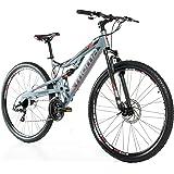 """Bicicletta Montagna Mountainbike 29"""" MTB SHIMANO, alluminio, doppio disco e doppia sospensione"""