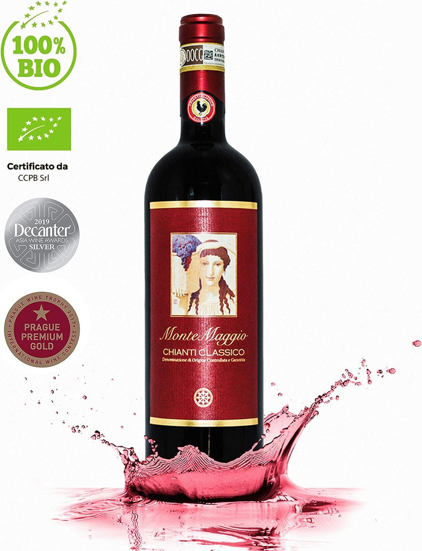 Chianti Classico Di Montemaggio Organic Fine Dry Red Wine From Italy Docg Tuscany Gallo Nero Sangiovese Merlot Fattoria Di Montemaggio 0 75l 1 Bottles Amazon Co Uk Beer Wine Spirits
