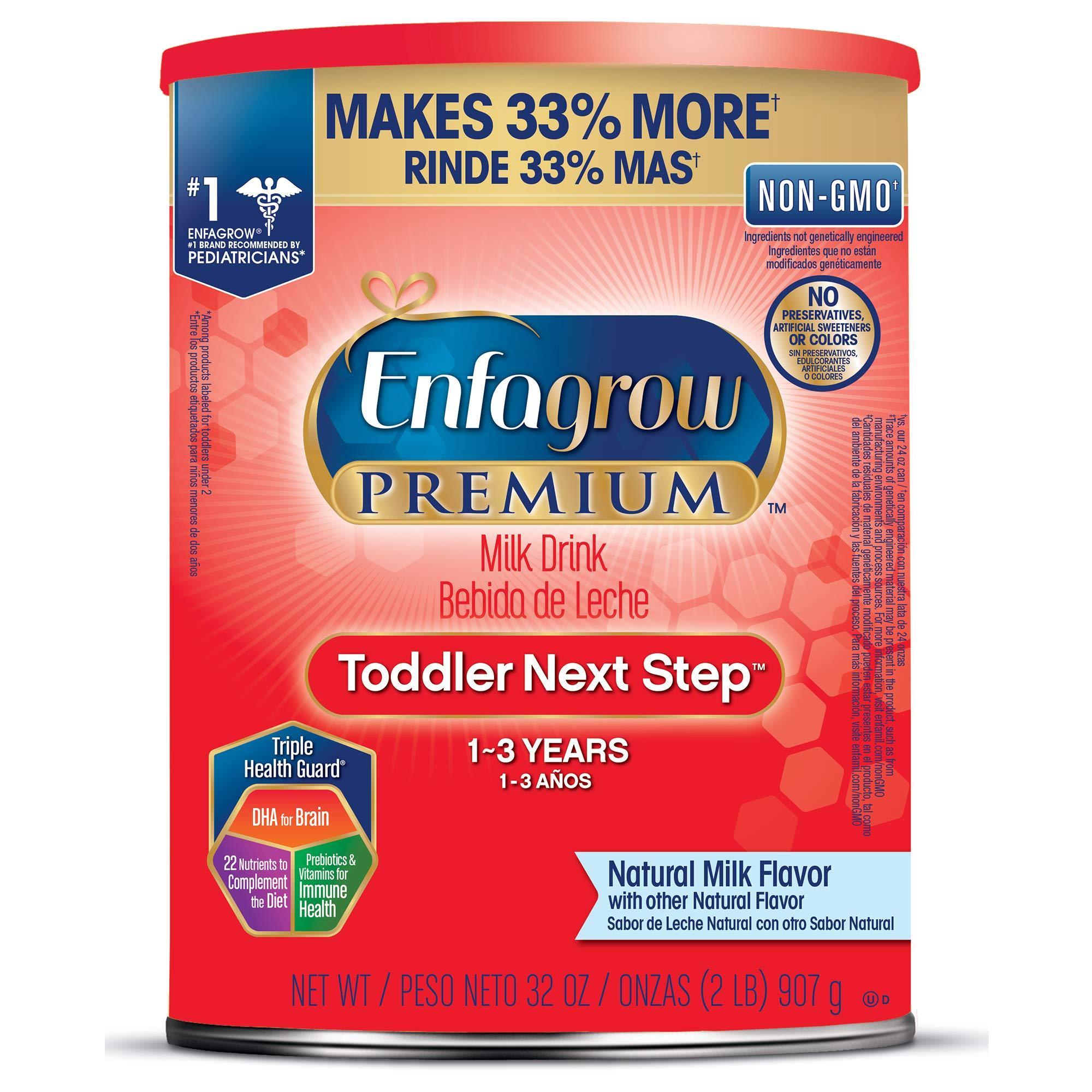 Enfagrow PREMIUM Toddler Next Step, Natural Milk Flavor - Powder Can, 32 oz