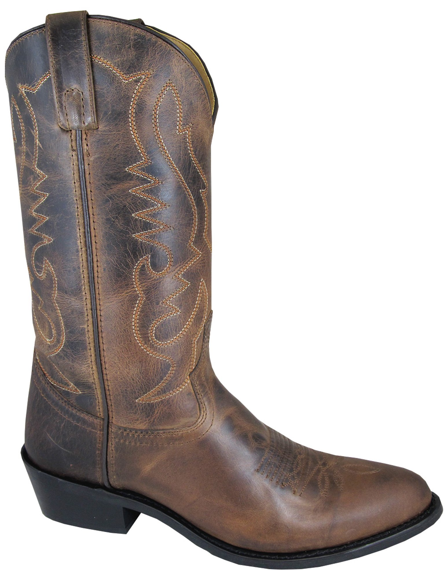 Smoky Mountain Men's Denver Cowboy Boot Round Toe Brown 10 D(M) US by Smoky Mountain