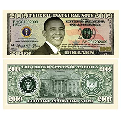 American Art Classics Pack of 5 - Barack Obama 2009 Commemorative Dollar Bill: Toys & Games