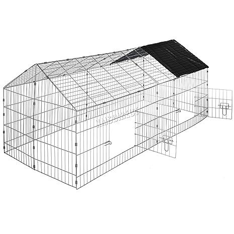 FoxHunter PRC01 - Jaula para mascotas, conejo, perro, cachorro ...