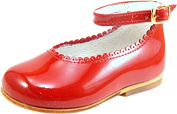 De Osu Girls Patent Leather Dress Shoes A-302 (Infant Toddler) 55d868f7020