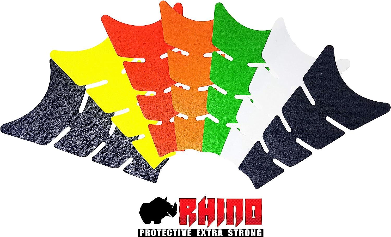 11,5 x 20,5 cm Quattroerre Protection R/éservoir Adh/ésive Flat Rhino Rouge Fluo