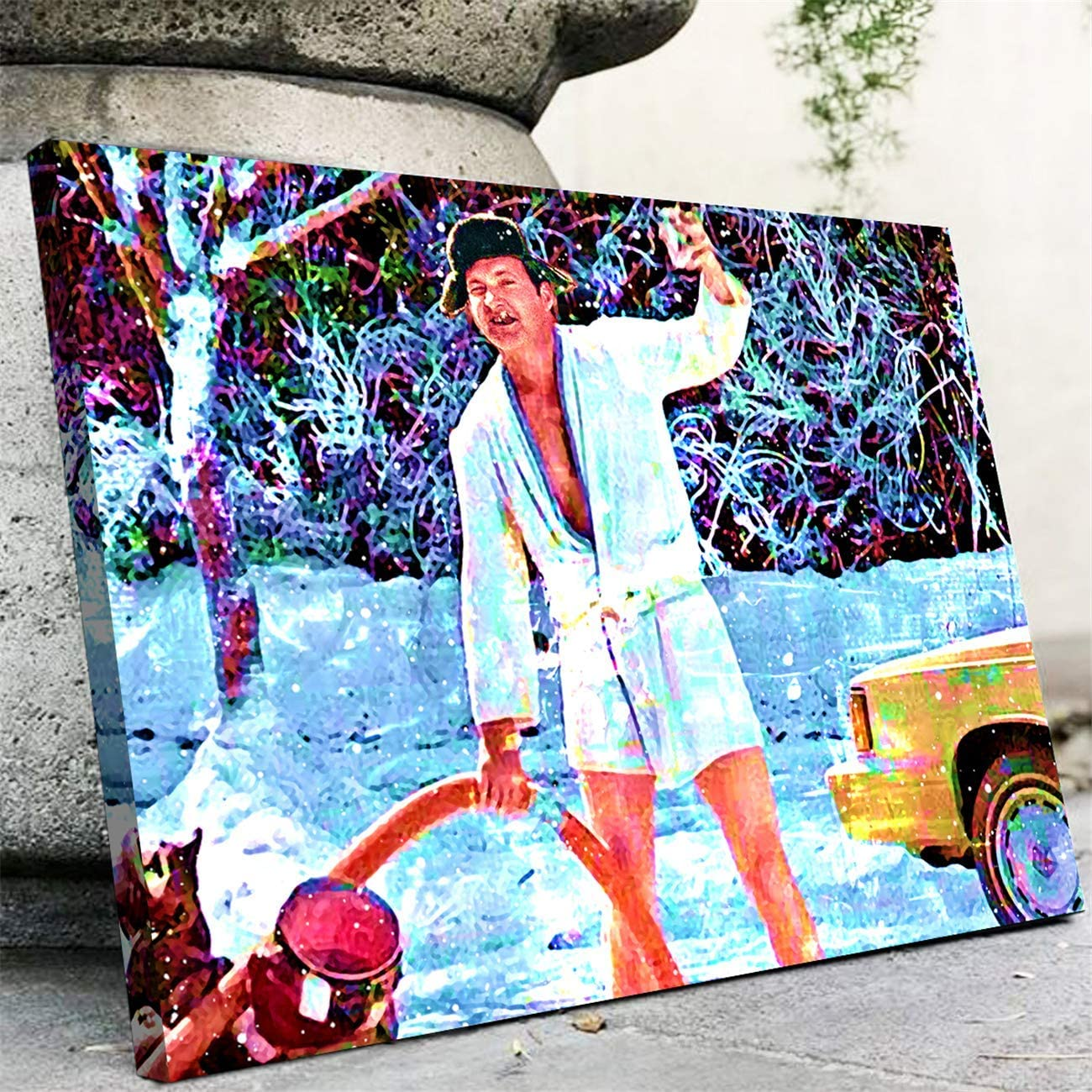 NATVVA Cousin Eddie Canvas Art Wall Art Poster Christmas Vacation Wall Decor Prints Painting Picture Artwork Home Decoration for Living Room Bedroom No Frame
