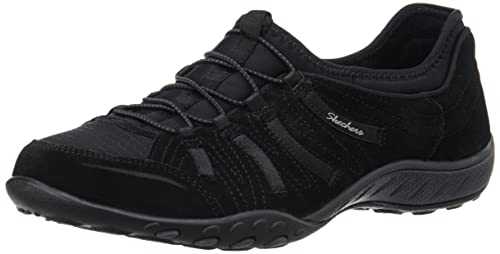 Skechers Breathe Easy Big Bucks, Women's Low-Top Sneakers, Black, ...