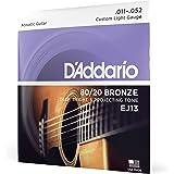 D'Addario EJ13 80/20 Bronze Acoustic Guitar Strings