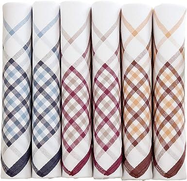 Pañuelos blancos para hombre con patrón de rayas de colores ...