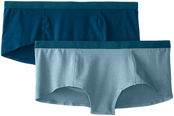 f84dcb31f Pact Women s 2-Pack Organic Cotton Boyshort Panties at Amazon ...