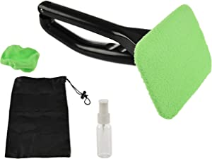 Home-X Window Wand for Car Wash Cleaning Kit, Auto Wiper with Fitted Microfiber Cover