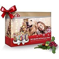 8in1 Calendrier de l'Avent pour chiens – Cadeau de Noël parfait pour votre chien - Assortiment de 8 délicieuses friandises : bâtonnets torsadées filets et brochettes à mâcher friandises lyophilisées