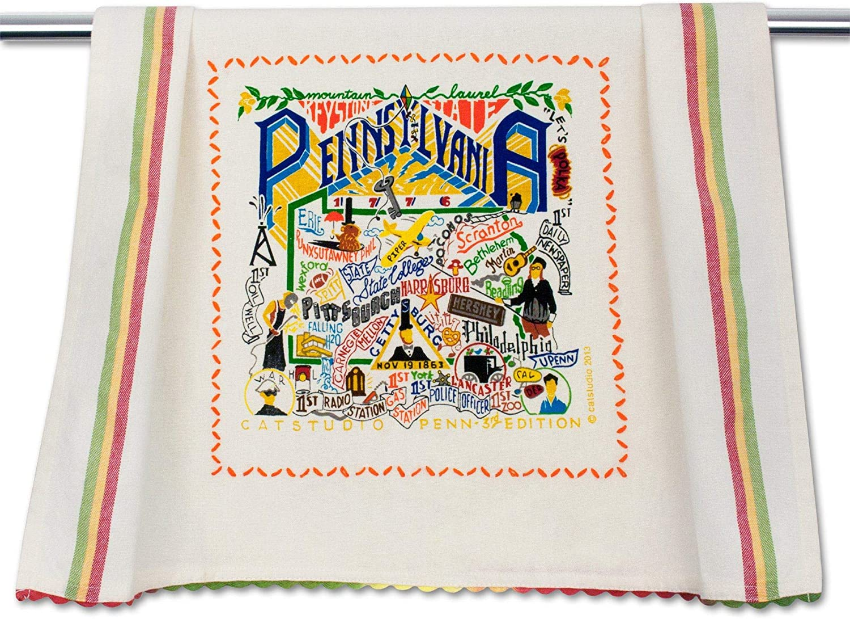 catstudio Pennsylvania Dish & Hand Towel | Great for Kitchen, Bar, & Bathroom