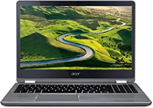 Acer Aspire R 2-in-1 Convertible 15.6 Inch FHD IPS Touchscreen Laptop, Intel Core i5-7200U, 8GB DDR4 RAM, 1TB HDD Windows 10- Aluminum chassis (Certified Refurbished)