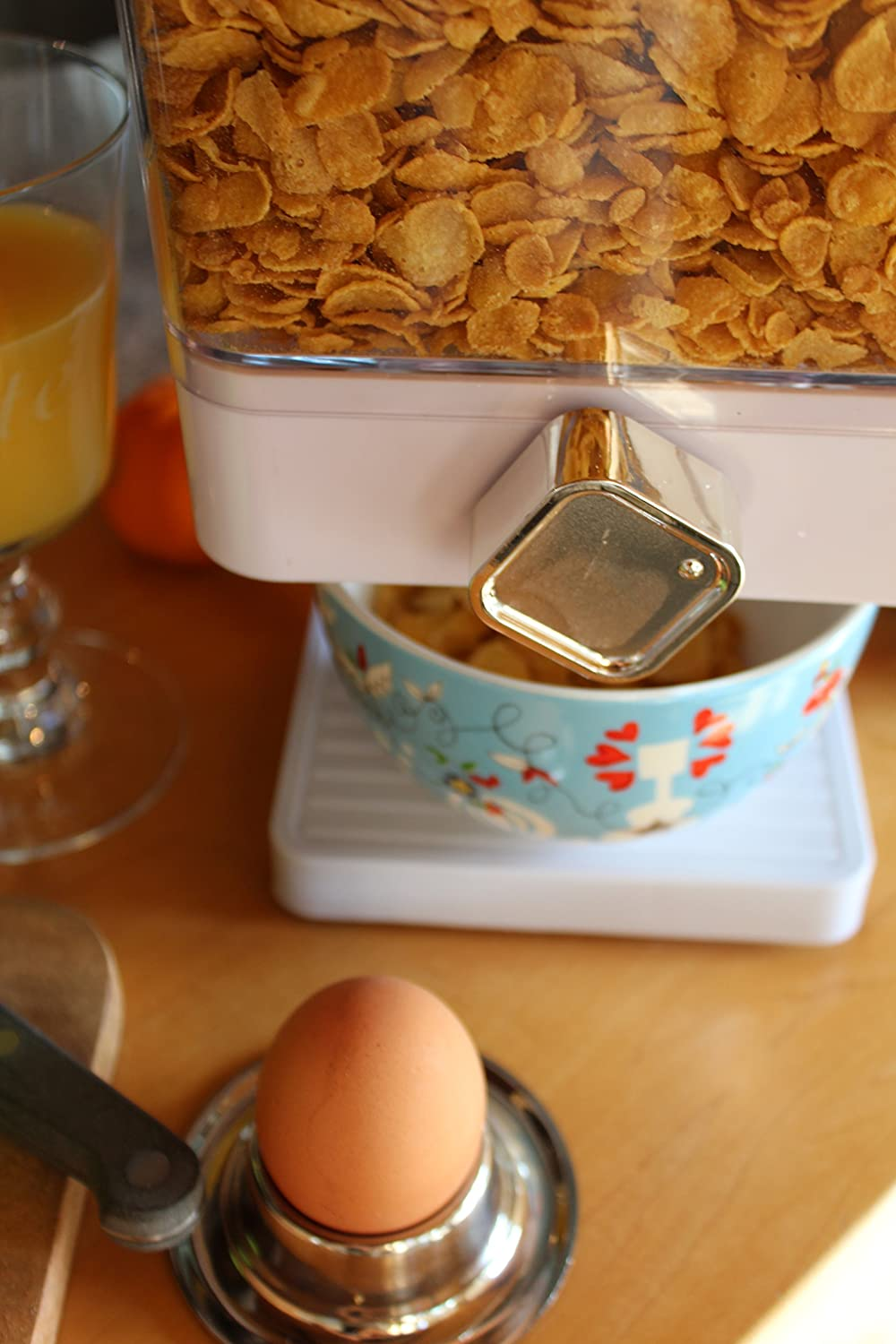Elemento de Desayuno Dispensador de Copos de Ma/íz United Entertainment Cornflakes Dispenser blanco