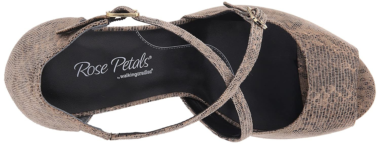 Rose Petals Women's Lissa Dress Pump B0127V6XUU 8.5 2W US|Taupe/Gold