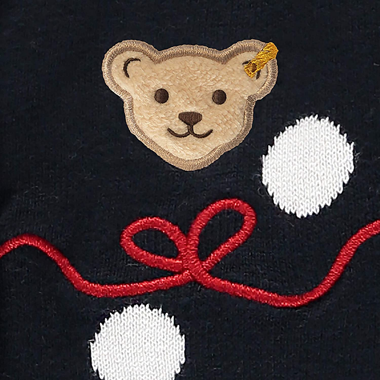 Steiff M/ädchen Mit S/ü/ßer teddyb/ärapplikation Sweatjacke
