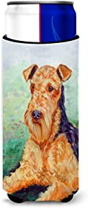 Caroline's Treasures 7239MUK Airedale Terrier Ultra Beverage Insulators for slim cans, Slim Can, multicolor