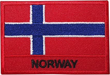 Flag of Norway Embroidered PATCH//BADGE
