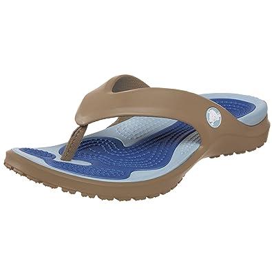 Crocs Unisex MODI Flip-Flop,Khaki/Sky Blue,Men's 5 M/