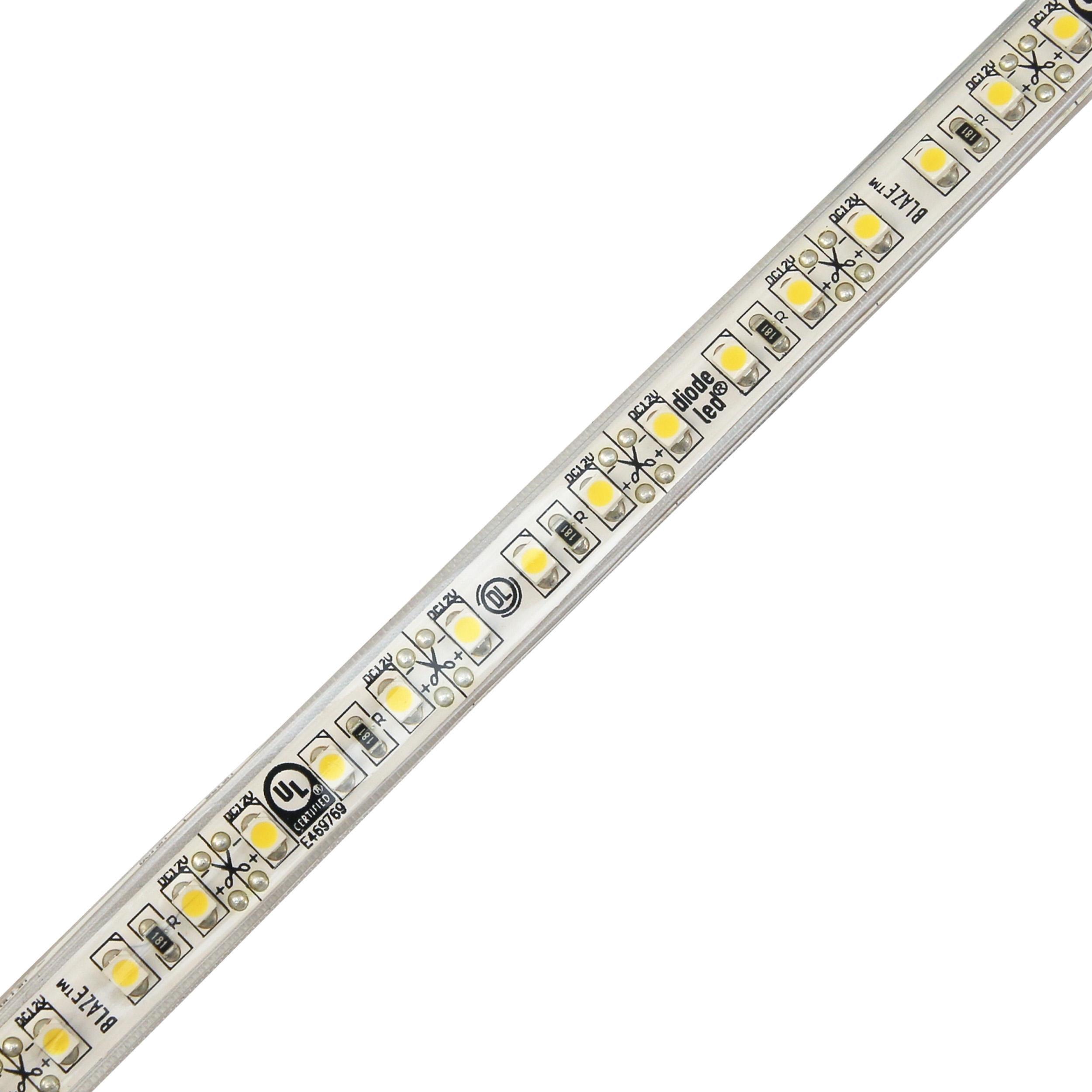 Diode LED Blaze 12V Wet Location LED Strip Light 80 CRI 3000K 16.4ft 2.88W/ft