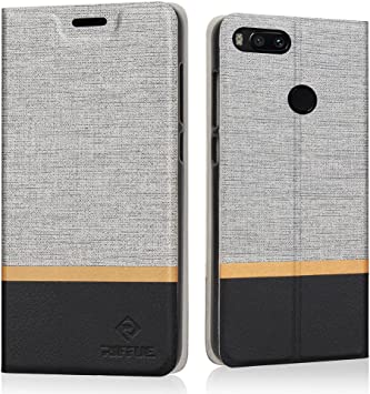 RIFFUE Funda Xiaomi Mi A1, Carcasa Delgada Libro de Cuero con Tapa ...
