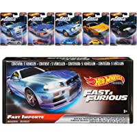 Hot Wheels Fast & Furious Bundle, 5 Premium Vehicles from Fast & Furious Movie Series, 1:64 Scale Die-Cast Vehicle…