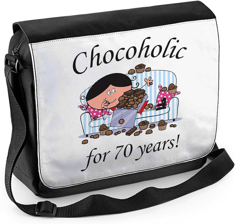 Tribal T-Shirts Chocoholic Since 1945 Womens 70th Birthday Laptop Messenger Bag