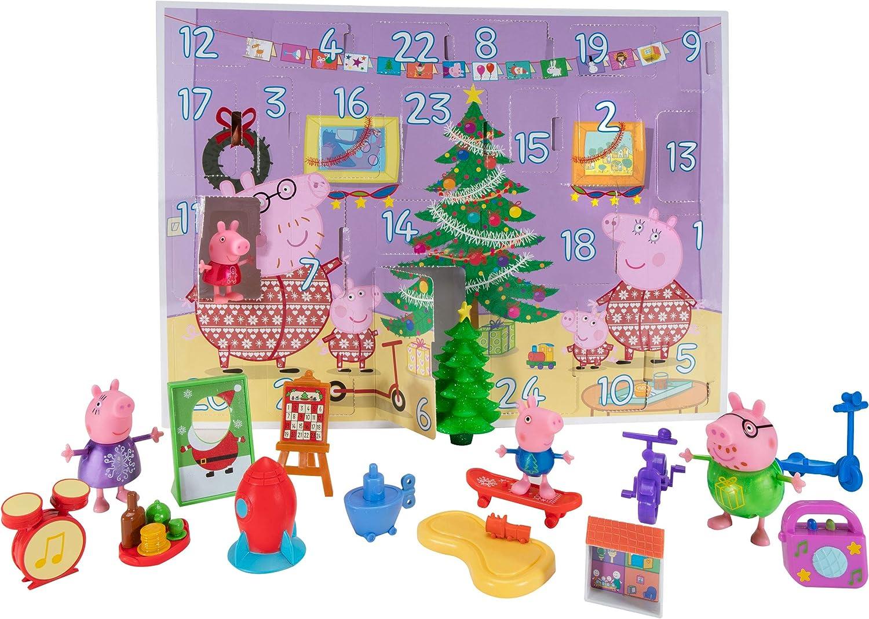 Peppa Pig PEP0798 Adventskalender mit Peppa Wutz Spielfiguren und Zubehör