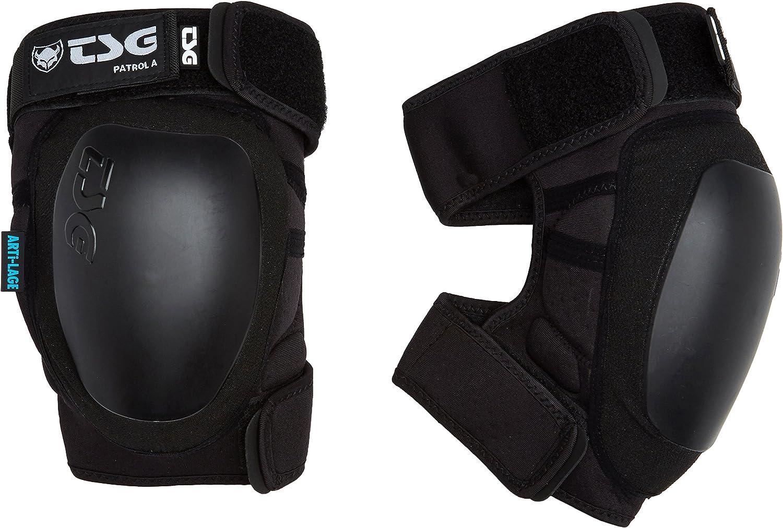 TSG 自転車のためのパッドをパトロール膝ガード 黒 小さい
