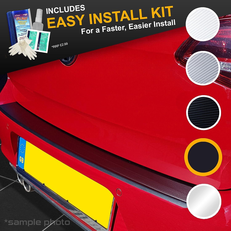 carmats4u Black Carbon Vinyl Bumper Lip Protector//Self Adhesive