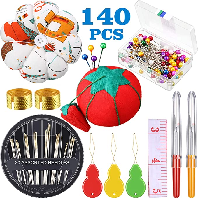 Including Sewing Gauge Sewing Pins Sewing Clips and Holder for DIY Sewing Supplies Scissors Seam Ripper Heat Erasable Pens Bias Binder Foot 31 Pieces Gauge Measuring Sewing Tool Set