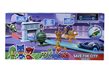 PJ Masks 1416571 Save the City Track Set Plus 1 Car