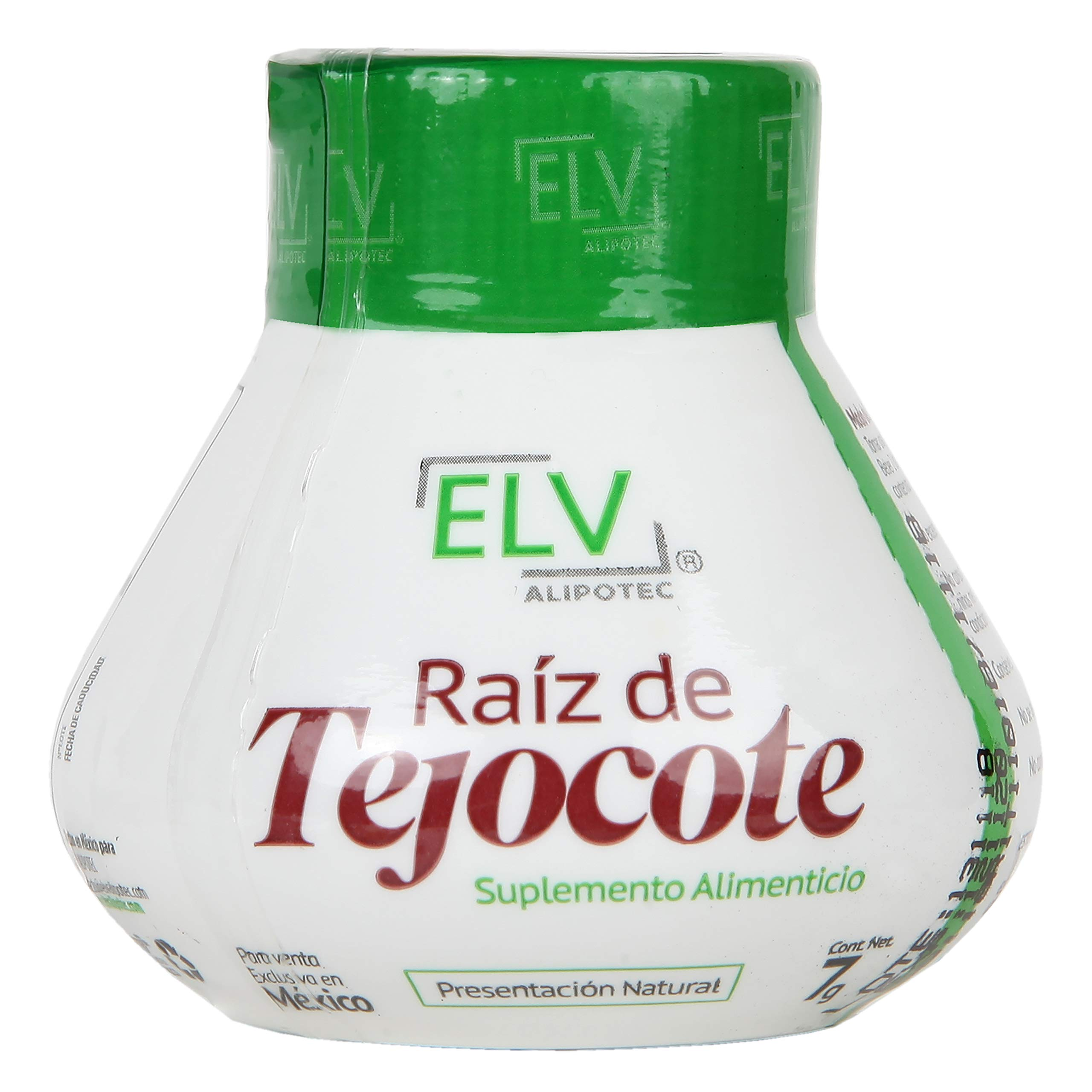 Brand New 2019 Design - Original ELV Alipotec Tejocote Root Treatment - 1 Bottle (3 Months of Treatment per Bottle) - Most Popular Weight Loss Product in Mexico- Now with New Authenticity Sticker