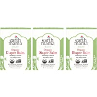 Organic Diaper Balm by Earth Mama | Safe Calendula Cream to Soothe and Protect Sensitive Skin, Non-GMO Project Verified, 2-Fluid Ounce (3-Pack)