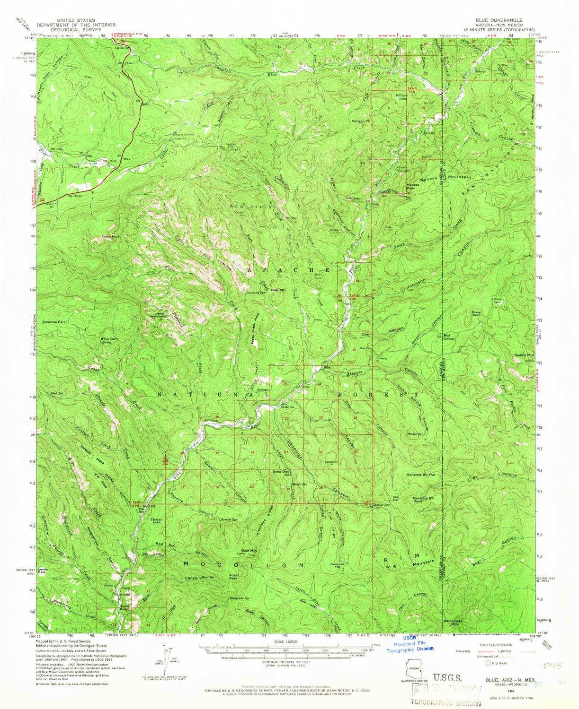 Amazon.com: YellowMaps Blue AZ topo map, 1:62500 Scale, 15 X 15 ...