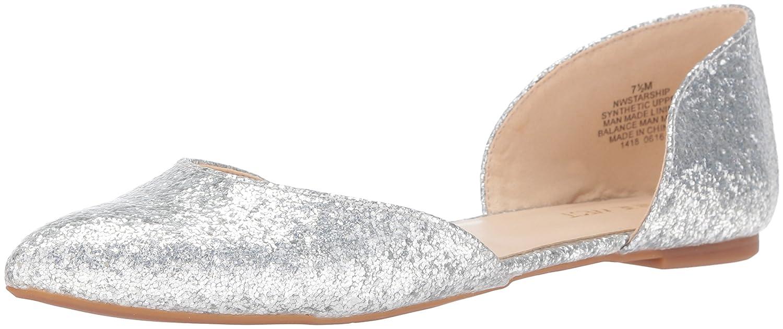 Nine West Women's Starship Patent Ballet Flat B01EX3MMZU 5 B(M) US|Silver Specchio