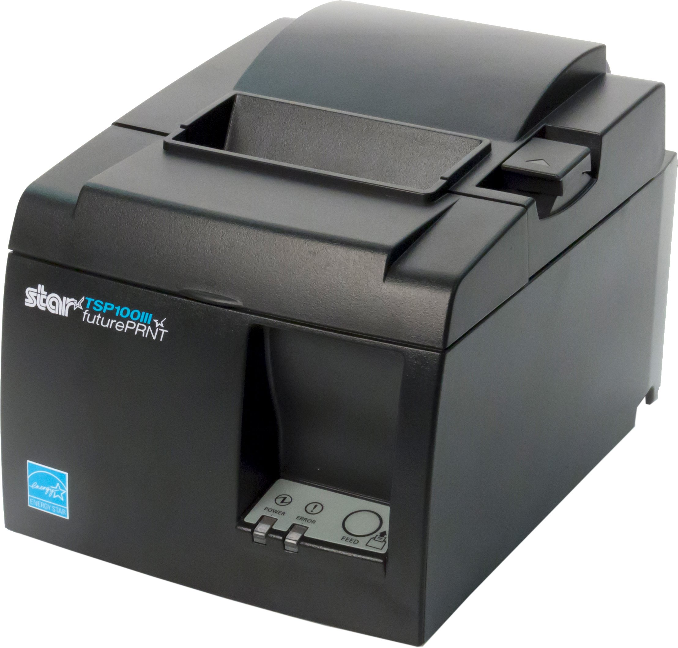 Star Micronics TSP143IIIBi Bluetooth Thermal Receipt Printer for iOS, Android, and Windows with Auto-cutter and Internal Power Supply - Gray by Star Micronics