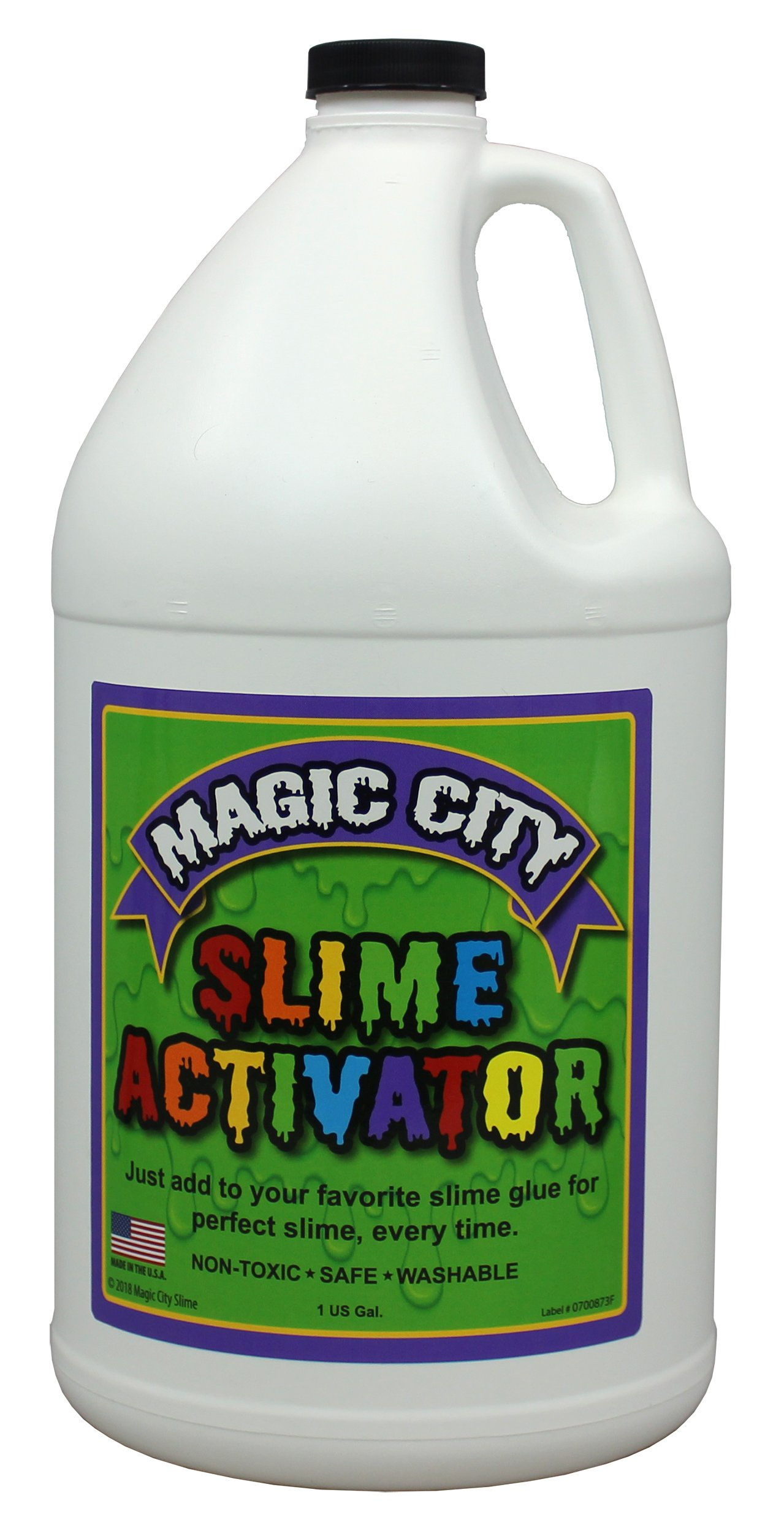 Magic City Slime Activator - Non Toxic, Just Add to Your Favorite Slime Glue for Great Slime Every Time, Made in USA (1 Gallon) by Magic City Slime