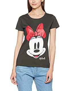 368ad2b11 Disney mujer Minnie Mouse Distressed Face Camiseta  Amazon.es  Ropa ...