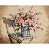 Dimensions Needlecrafts Counted Cross Stitch, Roses On White Chair