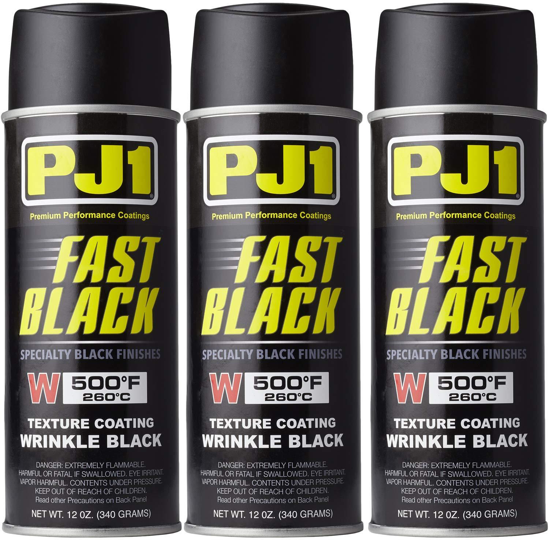PJ1 16-WKL-3PK Wrinkle Black Spray Paint, 33 oz, 3 Pack