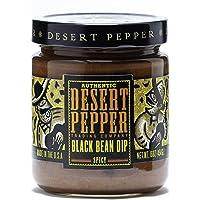 Desert Pepper Trading Company Black Bean Dip, Spicy, 16-Ounce (6 Pack)
