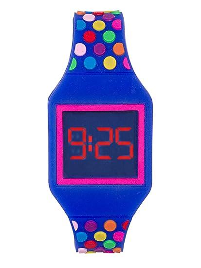 Reloj LED Digital Chica, Infantil y Joven, de Pulsera, Correa de Suave Silicona, Trendy, Kiddus KI10212: Amazon.es: Relojes