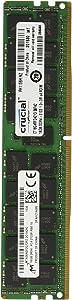 Crucial CT16G4RFD4213 16GB Single DDR4 2133 MT/s (PC4-2133) CL15 DR x4 ECC Registered DIMM 288-Pin Server Memory,Black/Green