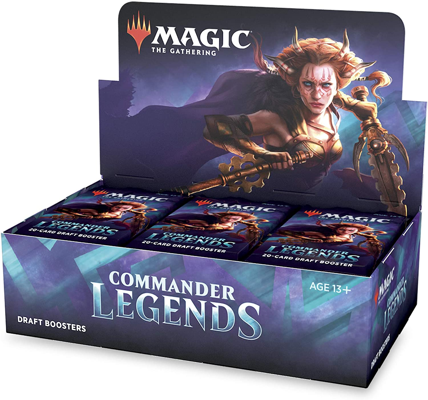 Amazon.com: Magic: The Gathering Commander Legends Draft Booster Box | 24 Booster  Packs (480 Cards) | 2 Legends Per Pack | Factory Sealed: Toys & Games