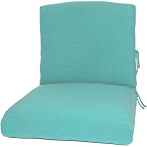 CushyChic Outdoors Terry Slipcovers For Deep Seat Patio Cushions, 2 Piece  In Aruba   Slipcovers