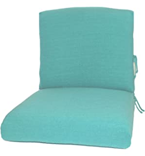 CushyChic Outdoor Terry Slipcovers For Deep Seat Patio Cushions, 2 Piece In  Aruba   Slipcovers Part 34
