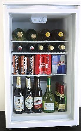 PKM Hausgeräte GKS102 Getränkekühlschrank, weiß: Amazon.de: Elektro ...